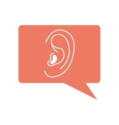 Ear audio organ icon vector