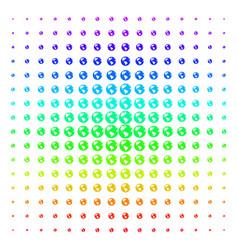 earth shape halftone spectrum grid vector image