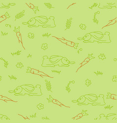 easter doodle pattern vector image
