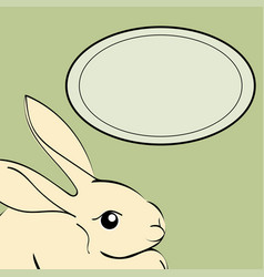 Easter rabbit animal frame text vector