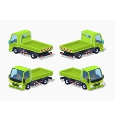 Empty green truck vector image
