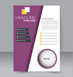 Flyer design background brochure template vector