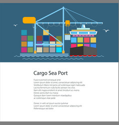 flyer with cargo port vector image