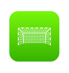 Goal post icon digital green vector