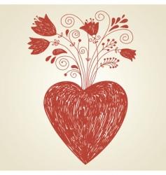 Handdraw of heart vector