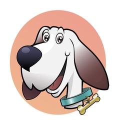 happy cute dog vector image