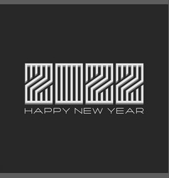 happy new year banner logo 2022 3d number vector image