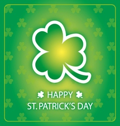 happy st patricks day greeting card 1 vector image