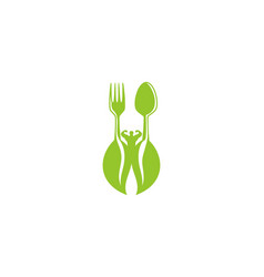 Healthy food for body builder logo design vector