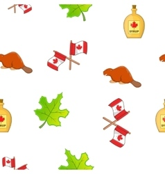 Holiday in Canada pattern cartoon style vector