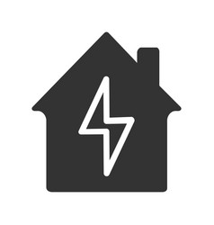 home electrification glyph icon vector image