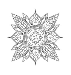 indian mandala isolated on white background for vector image