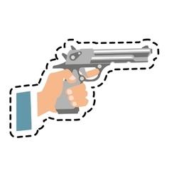 Isolated gun design vector image