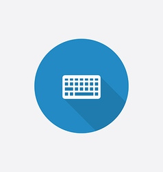keyboard Flat Blue Simple Icon with long shadow vector image