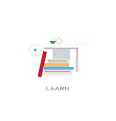 knowledge learning education concept graduation vector image