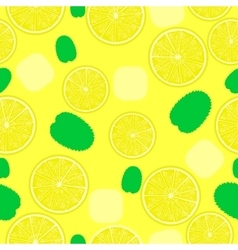 Lemonade pattern Seamless background for coctails vector