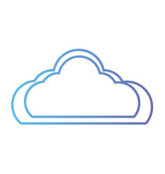line nice cloud natural weather day vector image