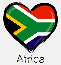 love africa flag vector image