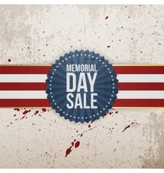 Memorial Day Sale festive Banner and Ribbon vector