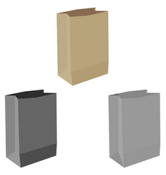 Paper bag or sack for buying paper bag or vector