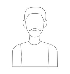 portrait man avatar people male cartoon vector image