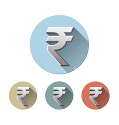 rupee currency icon isolated on white vector image