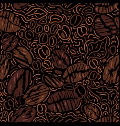 seamless pattern coffee bean vector image