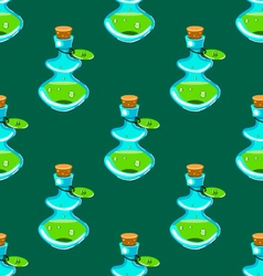 Seamless pattern with potion-2 vector image