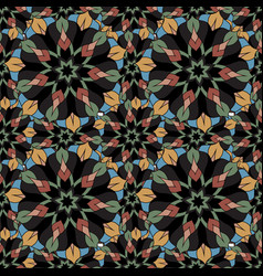 Seamless repeating floral pattern consisting of vector