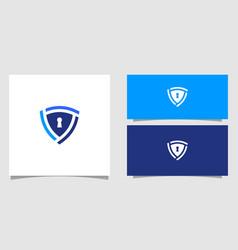 security shield logo premium vector image