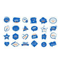 Set big sale stickers black friday special offer vector