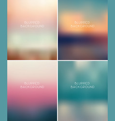 Set blurred backgrounds vector