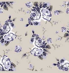 shabchic vintage roses seamless pattern vector image