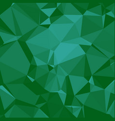 Shiny polygonal background in emerald seaform vector
