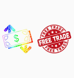 spectrum pixelated banknotes exchange vector image
