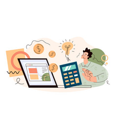 stock trading income roi investment profits vector image