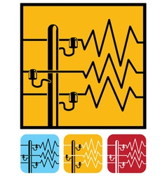 symbols of power lines vector image