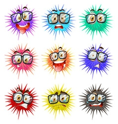Thorny balls with faces vector