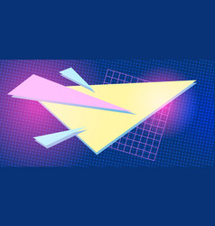 triangle 1980 background retro vector image