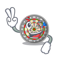 Two finger dartboard in the shape of mascot vector
