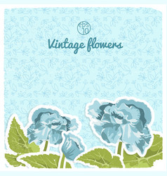 Vintage flowery backround vector