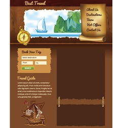 Vintage travel template vector