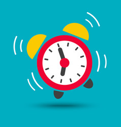 wake up icon of alarm clock in bright color vector image