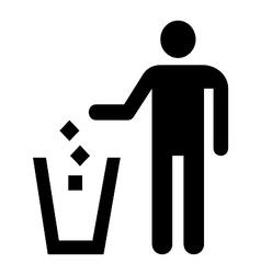 Waste symbol vector