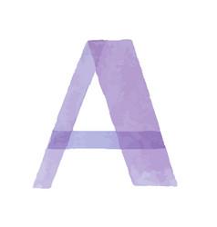 Watercolor aquarelle font type handwritten hand vector