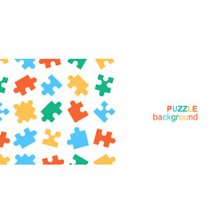 White details puzzle on white background vector