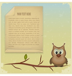 wise owl background vector image