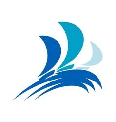 Yacht regatta symbol vector image