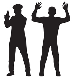 Criminal and Police officer vector image