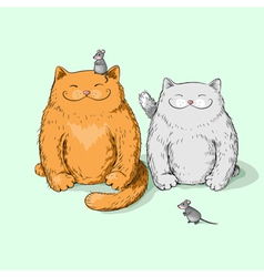 Full cats vector image